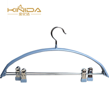 OEM Best wholesale eco friendly PVC coated metal wire skirt cloth hanger with clips