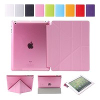 Factory Price Auto Wake and sleep function TPU + PU leather back cover protective case for ipad