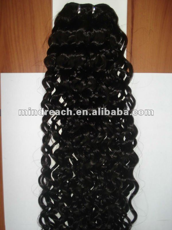 "Top quality 24"" spring curl Brazilian virgin human hair weft"
