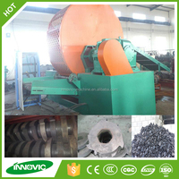 Scrap tire shredding/cutting/crushing machine for tires to rubber powder