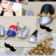 Punk Rock Nail Art Mini Metal Alloy Cone Bullet Head Spike Studs Rivet Salon 3D Nail Art Tips Phone Design DIY Decoration New