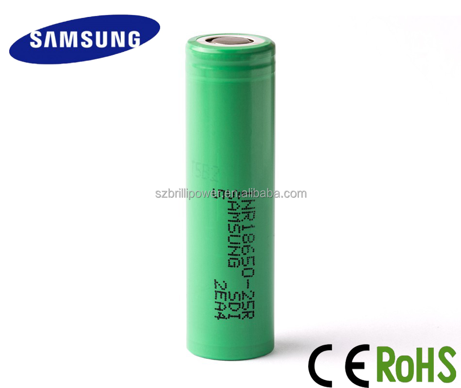 Factory price 18650 3.7v lithium battery Samsung 18650 2500mah rechargeable battery for Samsung inr18650 25r