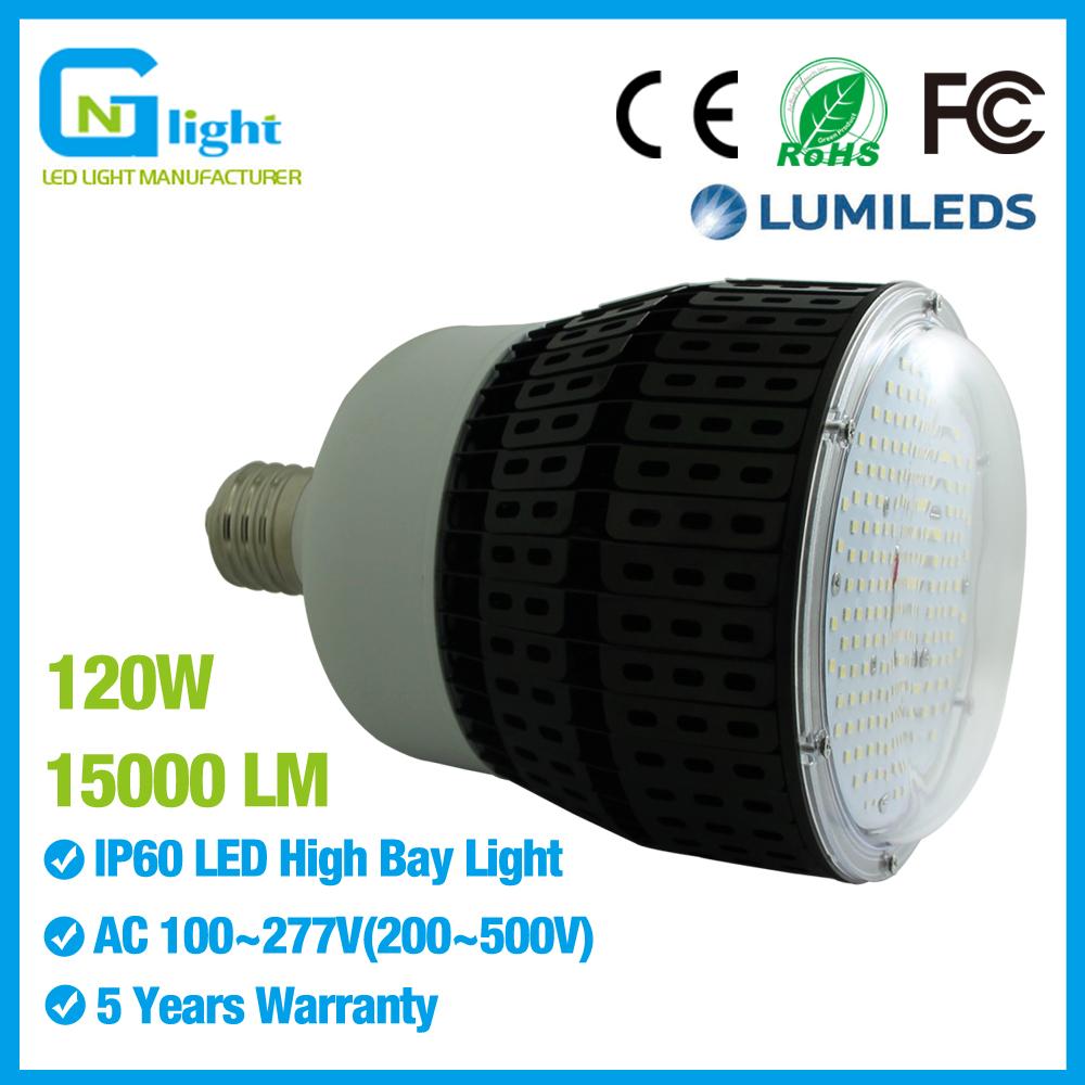 120w Led Bulb Pc Cover E39 Mogul Retrofit 400 Watt Metal Halide Gas Station  Canopy Light
