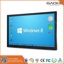 "Ultra thin 70"" interactive video multi language 55 inch infrared LED touch screen monitor"