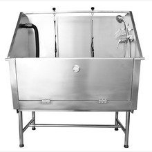 stainless steel grooming dog bath tub H-105