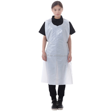 Disposable pe plastic waterproof oilproof apron for factory