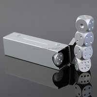 Sliver zinc alloy dice for party