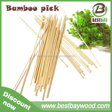 Factory direct sale cheap disposable bamboo skewer 40cm with custom logo bamboo skewer