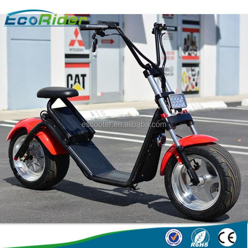 2017 new model battery removable citycoco electric scooter big wheel electric scooter