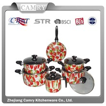 kitchen used aluminum cookware set