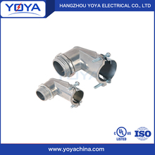 electrical 90 degree angle type zinc material bx connector