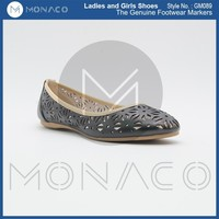 Ladies fashion laser cut ballerina shoes, office ladies flat shoes, ladies footwear