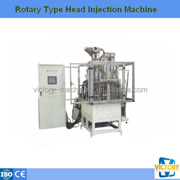 Hot sale automatic Rotary Type Head nozzle Injection Machine
