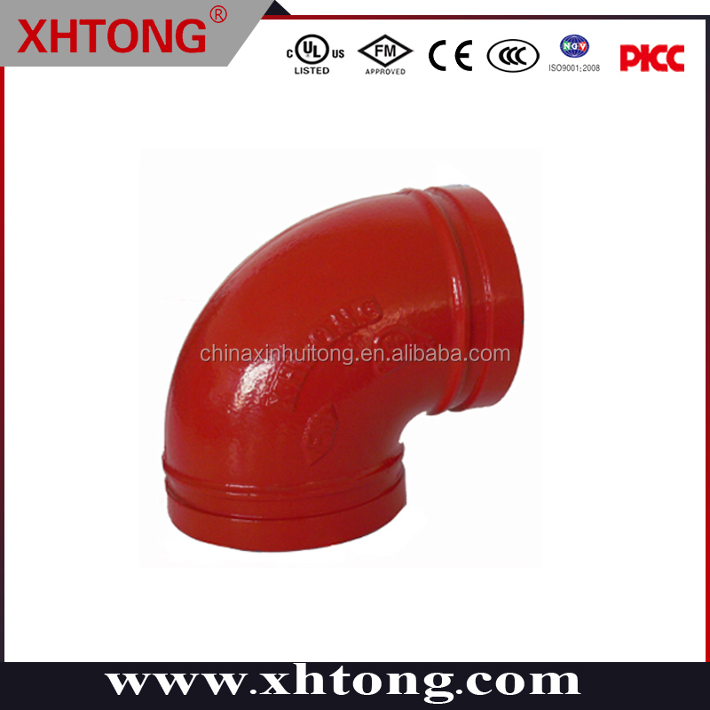 fm/ul china maker cast /ductile iron fittings and couplings elbow dip PAINTED AND GALVANIZED