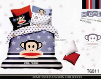 trade assurance mickey minnie mous/brand bed sheets/king and queen bedset