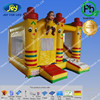 Hot sale smile face inflatable bounce house with monkey