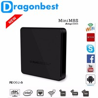 2016 Quad Core MINI M8S Android TV Box Amlogic S905 Google tv box Android 5.1 2G 8G