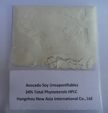 100% Pure avocado soybean unsaponifiables extract powder 34% Total Phytosterols HPLC