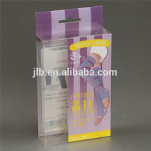 Custom clothes small product hard plastic Clear Pvc Hanging Packaging Box With Printing