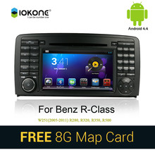 iokone Android 3G WIFI car multimedia radio player with gps navigation for mercedes BENZ R class W251