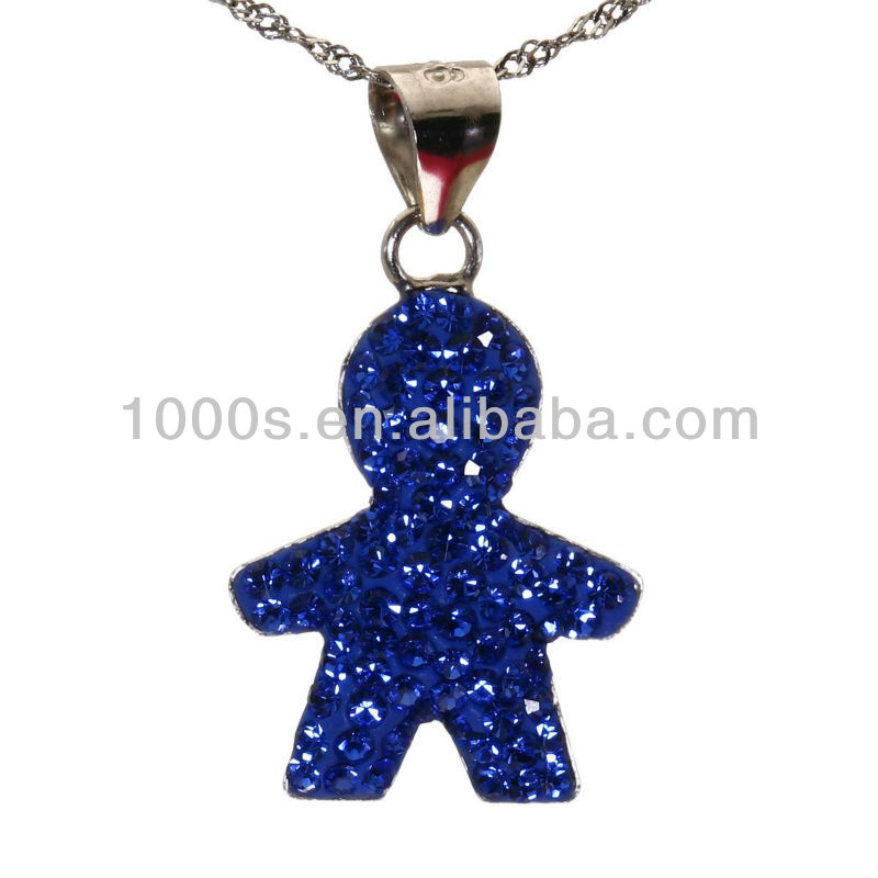 Baby pendant crystal boy necklace