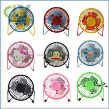 Custom fan usb desk stand mini electric fan, baby safe cooling rechargable fan usb