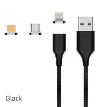 3.0A Fast Charging LED Magnetic USB Data Charging Cable for 3 in <strong>1</strong> for iPhone/Type C/Micro