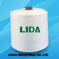 virgin 100 percent polyester spun yarn 20/2 20/3 semi-dull or bright fiber TFO quality polyester yarn factory from China