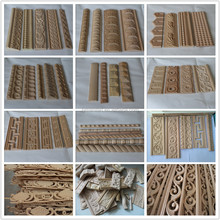 Interior decorative carved wood mouldings