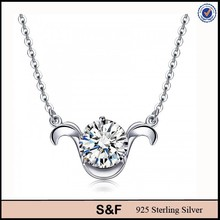 fashion accessories for girl pure silver chain necklace
