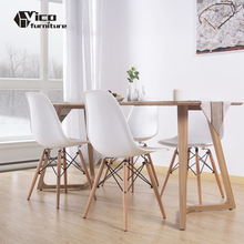 modern design hideaway cheap restaurant hotel plastic wood set 4 6 seat dining table and chair for sale