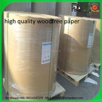 Pouplar sale high quality 50gsm 60gsm 70gsm 80gsm writing paper offset paper printing paper