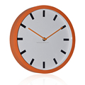 Plastic rubberised finish round office wall clocks