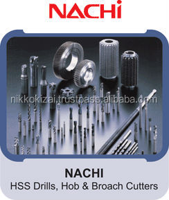 High quality Nachi End Mills and drills in fine pitch type with long life made in Japan at cheaper price