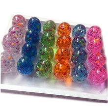 Factory Direct Sale Crystal Colorful Pearl Egg Slime, Glitter Putty Fluffy Slime Toy