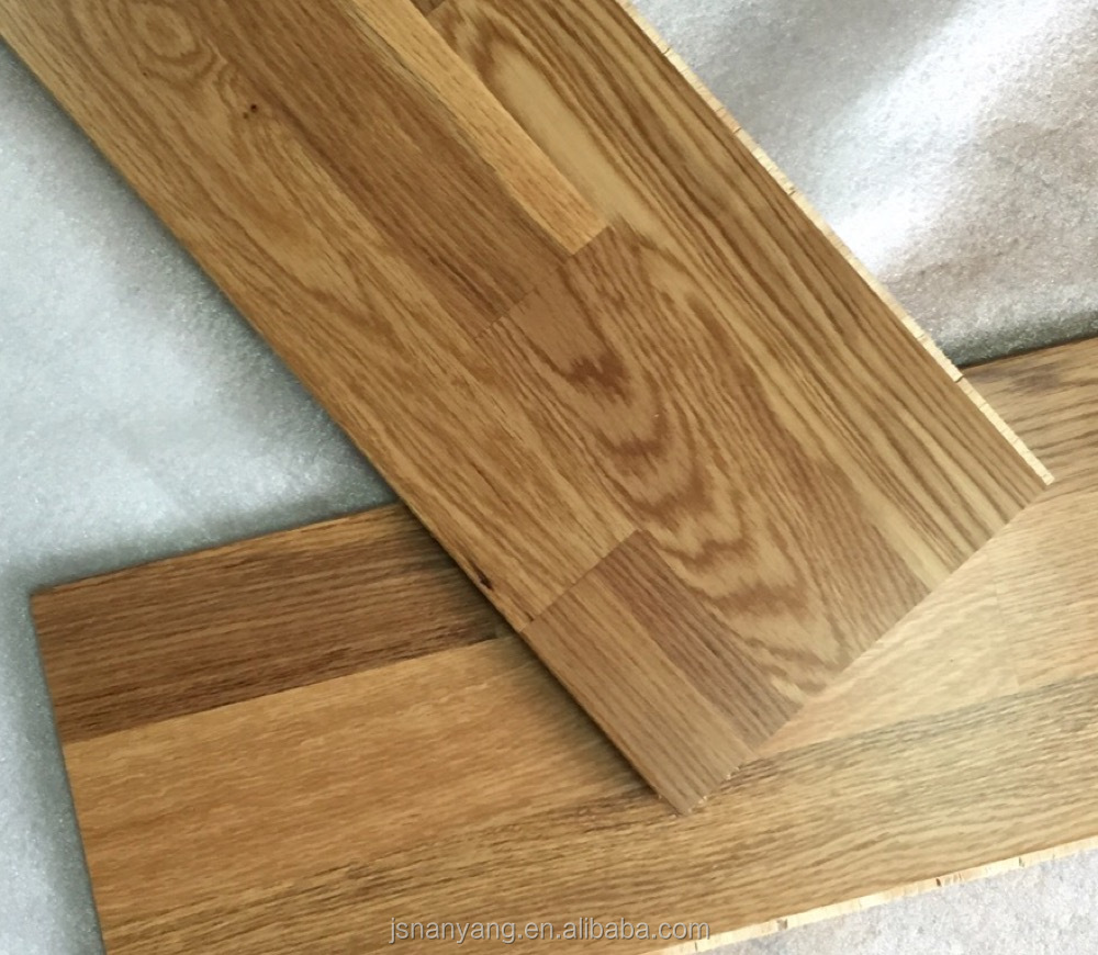 Smoked White oak UV oiled 3-layer 3-strip engineered wood flooring