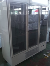 3 glass doors display cooler