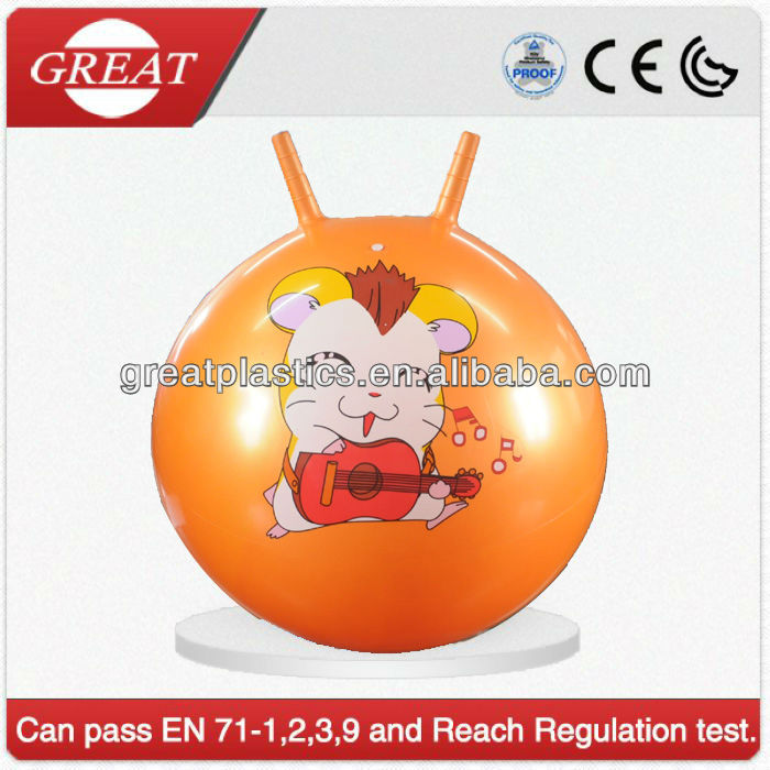 Good selling skip pvc ball sheep-horn handle jumping ball