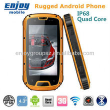 ENJOY mobile phone MTK6589 Quad Core 4.3inch 1G RAM 4G ROM IP68 waterproof android mobile phone