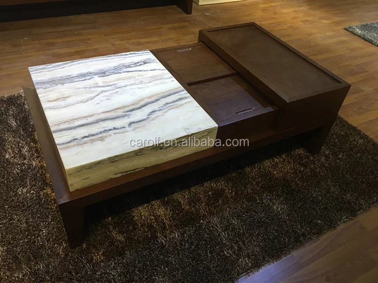 modern living room coffee table, center table with marble top