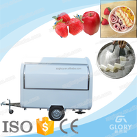 factory direct sale cheap price street food vending mobile food cart with frozen yogurt machine