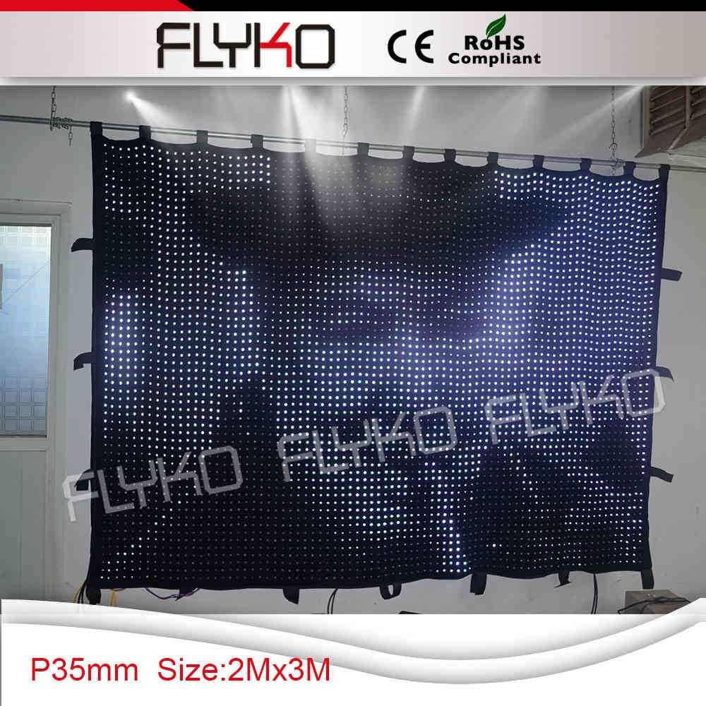 custom size stage led background video curtain