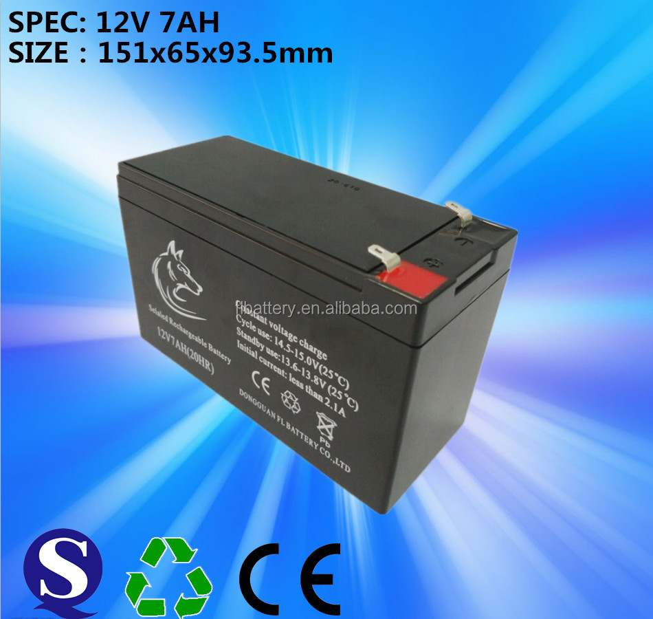 12 Voltage and UPS Usage Rechargeable Sealed Lead-acid Battery 12v7ah