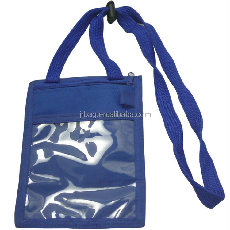 Blue Hanging bags Holding Passport wallets bags
