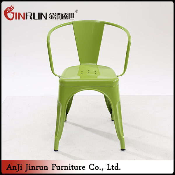 Good quality modern restaurant dining chair with armrest