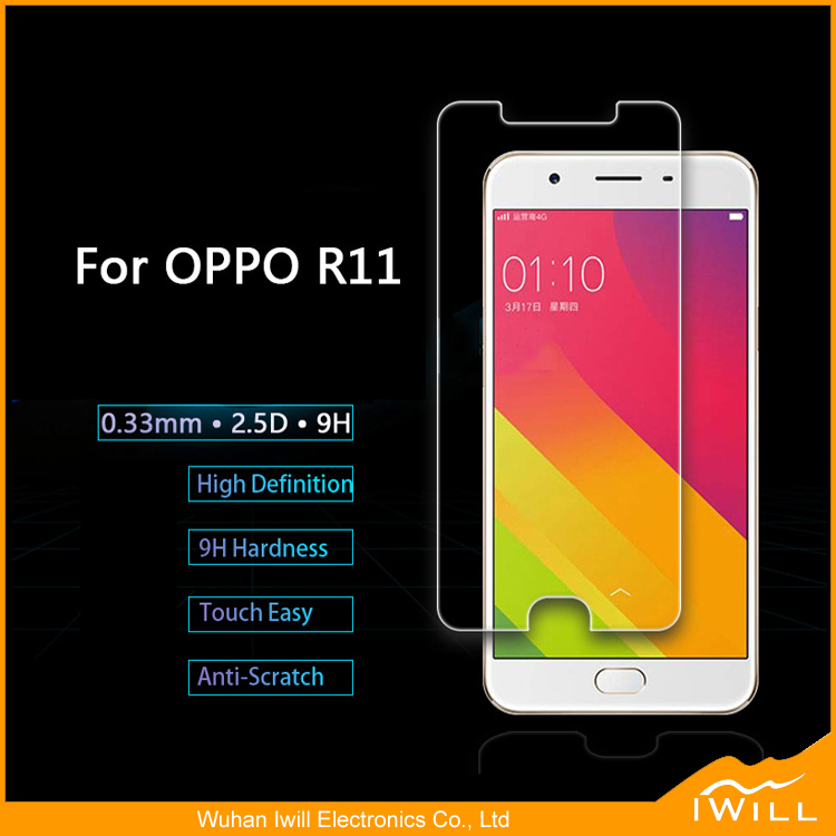 Mobile Phone Use Tempered Glass Screen Protector For OPPO <strong>R11</strong> 9h Hardness Glass Protector