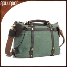 2015 Latest Jungle Green Canvas Bag for Women