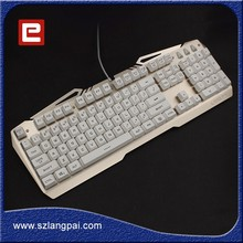 High Quality Anti-Watersplash Waterproof USB Standard Computer Gaming Keyboard