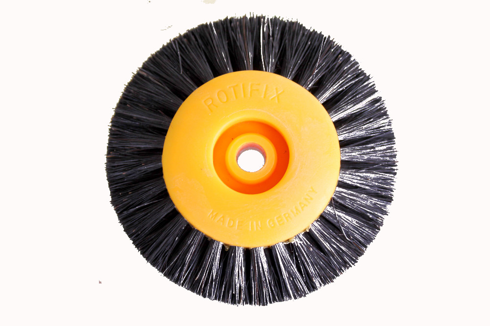 Fiber polishing wheel