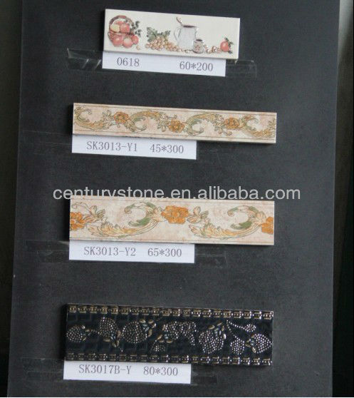 80 x300mm Glazed Porcelain Tile Accessories For Bathroom